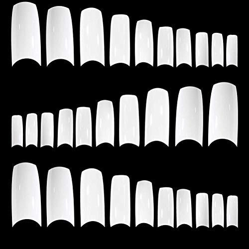 TRIXES 500 weiße Nagelspitzen aus Acryl und Gel für French Manicure
