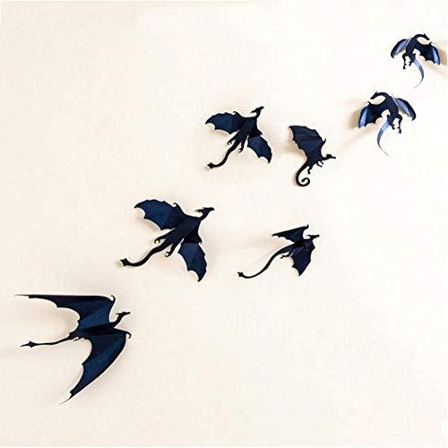 DHXXIAB 7Stks/partij gotische draken muur Sticker Game of Thrones Geïnspireerd 3D Dragon Decor