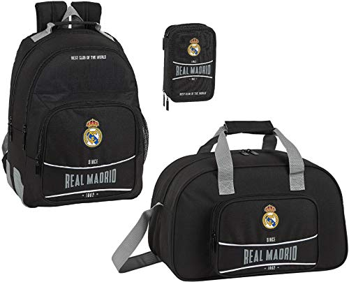 Real Madrid '1902' Schulrucksack Sporttasche Federmappe Jungen Rucksack Federtasche