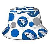 Gran tiburón Blanco de Dibujos Animados en Ocean Bucket Hat para Hombres, Mujeres, niños, Gorra de Verano, Sombrero de Pesca