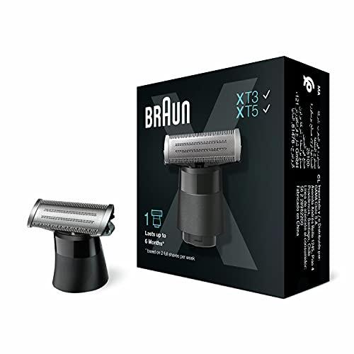 Braun Series X Lama Di Ricambio – Compatibile con i Modelli Braun Series X, Regolabarba Uomo e Rasoio Elettrico Barba, una Lama per Radere, Regolare e Definire Qualsiasi Stile, 1 Pezzo, XT10
