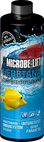MICROBE-LIFT Herbtana - Kräuterbasierendes Pflegepräparat zur optimalen Unterstützung des Immunsystems bei Fischen in jedem Meerwasser- & Süßwasseraquarium, 473ml