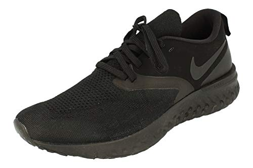 Nike Odyssey React 2 Flyknit Hombre Running Trainers AH1015 Sneakers Zapatos (UK 11 US 12 EU 46, Black White 003)