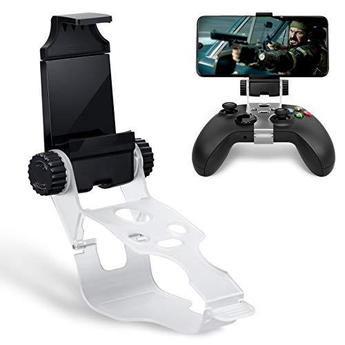 Clip de montaje para teléfono con controlador Xbox Series S / X, HONEYWHALE Soporte plegable para teléfono móvil Soporte de abrazadera para teléfono móvil con soporte ajustable