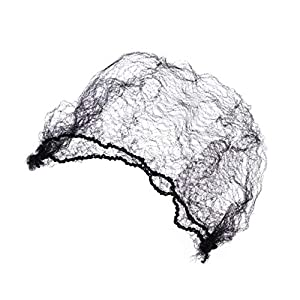 Frcolor Redes de pelo Invisible elástico redes para el cabello de malla - 100 unids