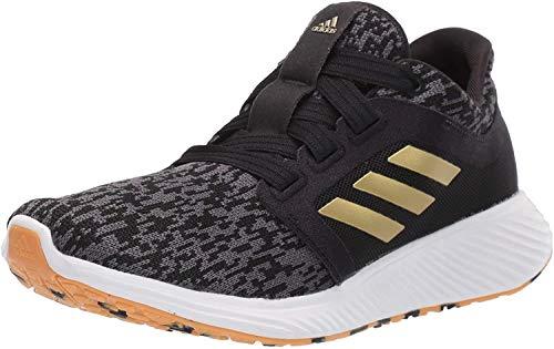 adidas Women's Edge Lux 3 Running Shoe, Black/Gold Metallic/White, 6.5 M US