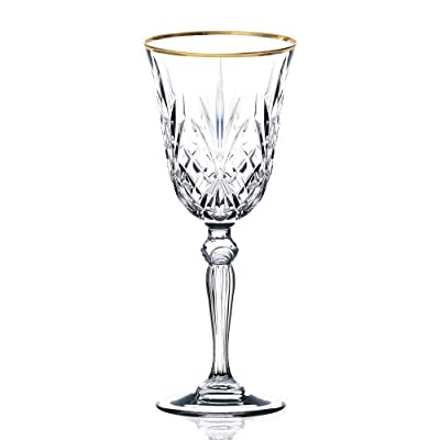 Lorren Home Trends Siena Collection Crystal Wine Glass