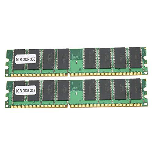 2 Piezas DDR PC-2700 1GB 333MHZ 184 Pin 2.5V Barra de módulo de Memoria de computadora de Escritorio de Doble Cara de 16 Granos, Totalmente Compatible con para Inter/para AMD
