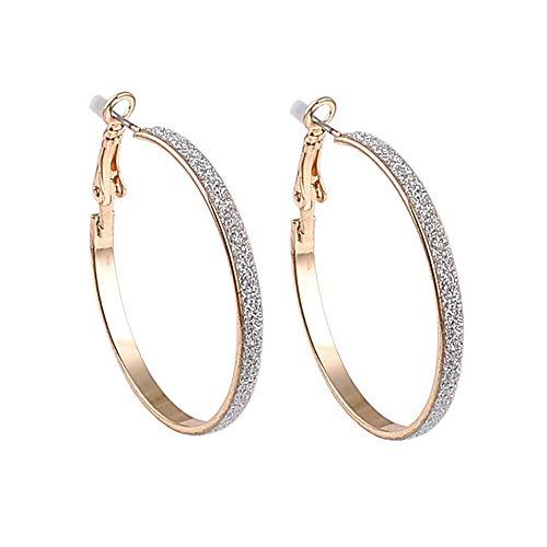 Kreis Gold Clip am Ohr Ohrringe Creolen für Frauen mit Kissenpolster ohne Piercing Modeschmuck