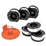 AF-100 Weed Eater String Compatible with Most Black and Decker String Trimmers, Durable and Easy to Install (6 x Spool + 1 x Cap)