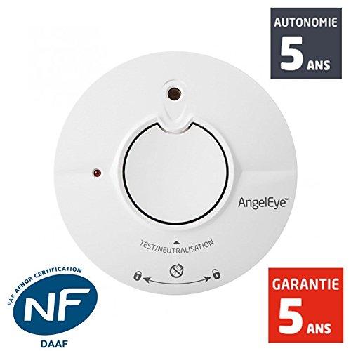 ANGEL EYE - Détecteur de fumée DAAF avec capteur à technologie Thermoptek®, certifié NF y compris pour caravanes et mobile-homes, INGENIOUS ST-AE625-FR