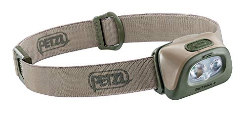 PETZL, TACTIKKA + Stealth Headlamp with 350 Lumens for Fishing and Hunting, Desert
