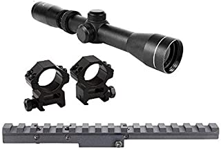 GOTICAL Combo of Mosin Nagant 2-7x32 Long Eye Relief Scope + Scout Rail Mount for Mosin Nagant 91/30 M38 M44 1891 91/30 1891/30 Rifles +1 Inch Ring