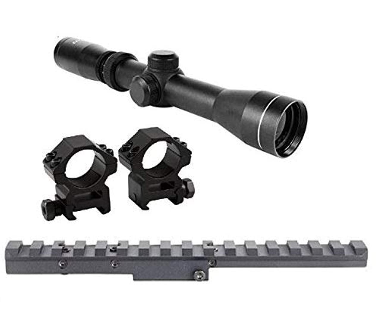 GOTICAL Combo of Mosin Nagant 2-7x32 Long Eye Relief Scope + Scout Rail Mount for Mosin Nagant 91/30 M38 M44 1891 91/30 1891/30 Rifles +1 Inch Ring xqpbxqsq436