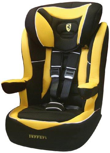 4. Ferrari 102-123-31 - Silla de coche grupo 3, 2, 1, color negro y amarillo