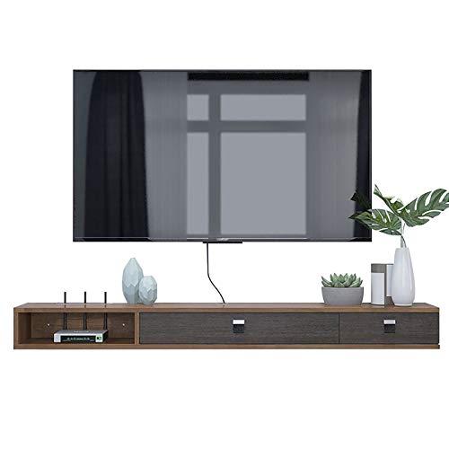 Met Love Mueble de Pared de Estante Flotante Mueble de TV Mueble Multifuncional Mueble de Pared Audio Video Console Flotante TV Estantería TV Stop (Color : Grayish White, Size : 120cm)