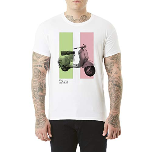 Northern Soul Vespa Scooter Italiaanse vlag. Heren T-shirt.