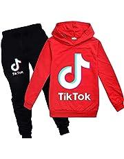 TIK-Tok - Sudadera con capucha y pantalones deportivos para niños y niñas