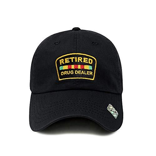 ChoKoLids Retired Drug Dealer Hat Dad Hat Cotton Baseball Cap Polo Style Low Profile PC101 (PC101 Black)
