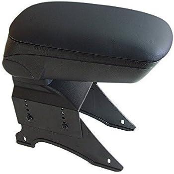 Universal 48013 Car Armrest Arm Rest Centre Console Storage Box Sliding Top Faux Leather Grey