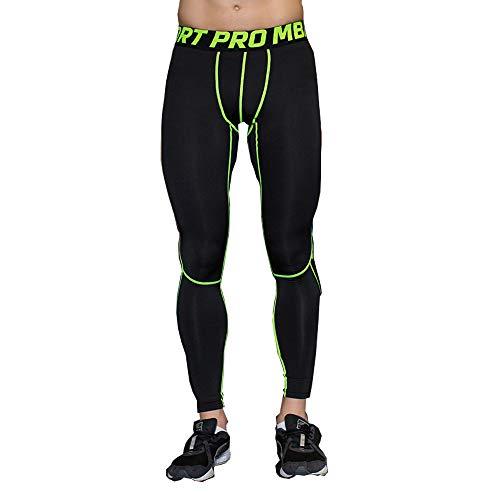 UrChoiceLtd 2016QX Pantalón deportivo de compresión para hombre, secado rápido, muy cómodo, para mujer, base térmica, color verde, tamaño medium