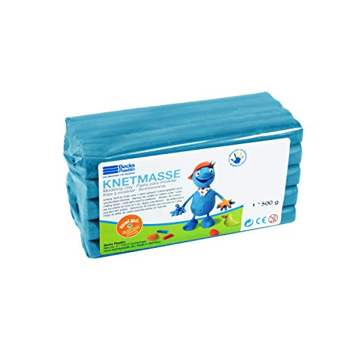 Becks Plastilin B100485 Knete, blau, 500 g