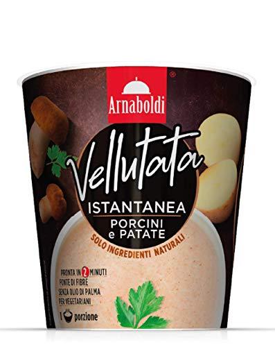 Arnaboldi Vellutata di Patate e Funghi Porcini Vegetariana, Zuppe Pronte Vegetariane [6 Confezioni da 35g]
