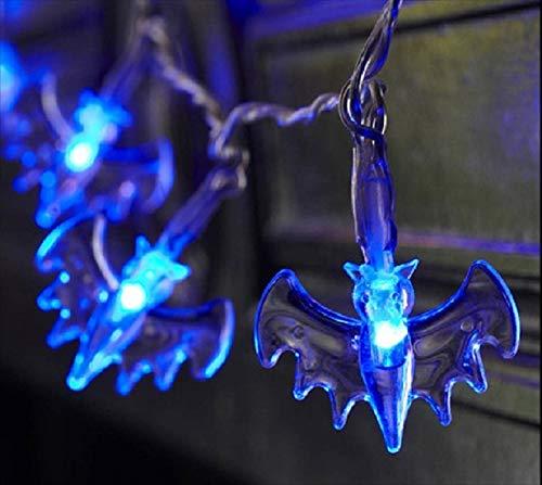 lpf Batteriekasten Schnur-Licht 20LED Laterne Fledermäuse Spinnen Halloween Party-Bar Tanzsaal dekorative Lichterkette leuchtet 2 Meter 20