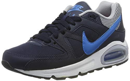 Nike Jungen Air Max Command (GS) Laufschuhe, Schwarz Blau Grau Obsidian Foto Blau Wolf Grau, 37.5 EU