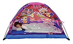 Cosy tent with integrated mattress Durable 190T polyester material and PVC poles with fabric channels for easy assembly Tie back doors for open play space or closed off hideaway Inflates quickly and easily, folds quickly and easily away and comes com...