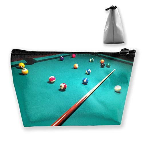 Trapezförmige Kosmetiktasche, Make-up-Tasche, Kulturbeutel, Billiard-Ball-Druck,...