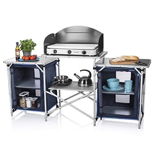 Campart Cucina da Esterni Travel KI-0732 Malaga – con paravento – Due Scomparti