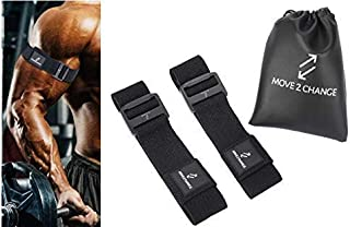 Move 2 Change Blood Flow Restriction Bands, 1 Set of BFR Occlusion Training Bands or Kaatsu Training, Arm Bands, Leg Weigh...