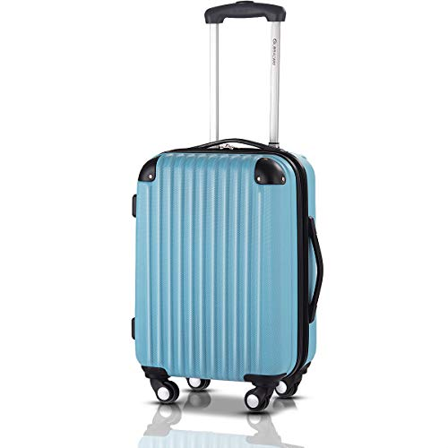 Goplus 20' ABS Carry On Luggage Expandable Hardside Travel Bag Trolley Rolling Suitcase GLOBALWAY (Blue)