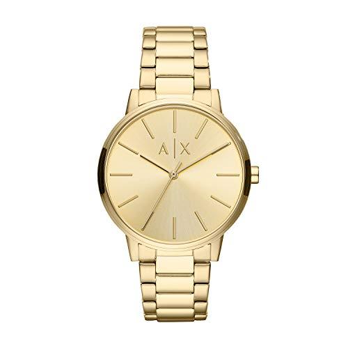 Emporio Armani Herren Analog Quarz Uhr mit Edelstahl Armband AX2707