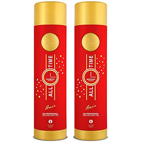 Zap Cosmeticos Haarglättmittel, Aktivprodukt (Keratin), All Time Protelife/Protevida – 1 l
