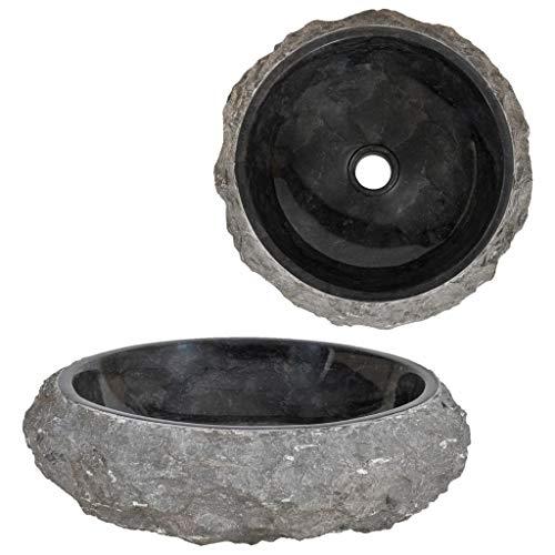 Lavabos Guru-Shop Lavabo de M/ármol Macizo Gris Lavabo Lavabos Ba/ñeras 40x40 cm Modelo 22 Lavabo de Piedra Natural