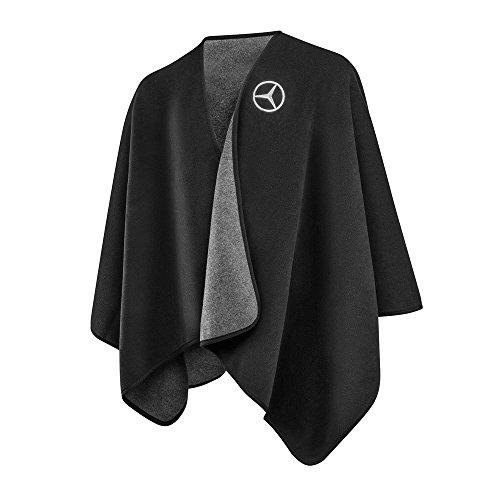 Mercedes Damen Fleece-Ruana Poncho schwarz Polyester von FRAAS