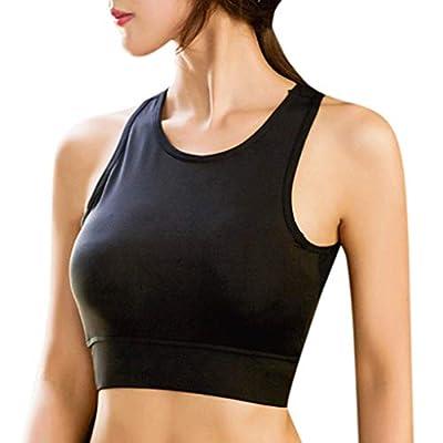 RAINED-Crop Tops for Women Summer Halter Cross Sexy Solid Color Tanks Camis Vest Racerback Breathable Crop Top Bra