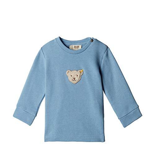 Steiff Unisex Baby Sweatshirt, Blau (ALLURE 3110), 86 (Herstellergröße:86)