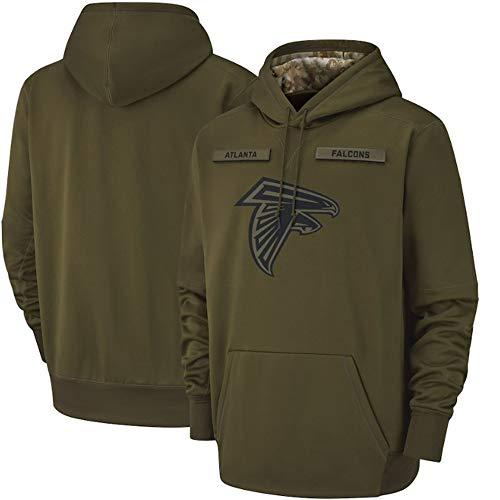 SHR-GCHAO Männer Hoodies NFL Atlanta Falcons, NFL Baseball-Trikot Football Team Pulloverhoodies, Langarm-Kapuzen Letters Druck Hoodies,XL(175.180cm)