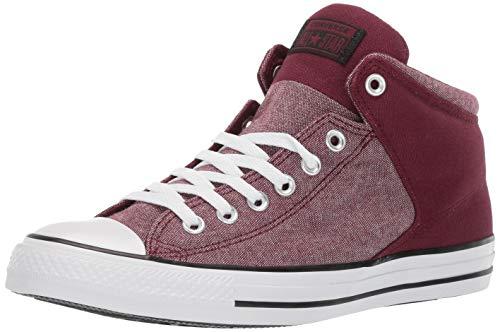 Converse Men's Unisex Chuck Taylor All Star Street High Top Sneaker, Dark Burgundy/White/Black, 11 M US