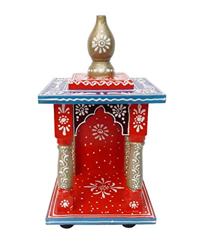 Incredible Antique Arts Wooden Handcrafted Temple Mandir Pooja Ghar Mandap for Worship Home Decor Art