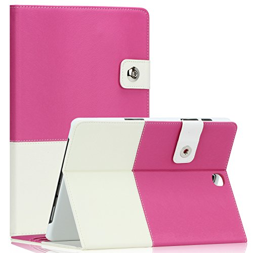 Samsung Galaxy Tab S2 8.0 Case - SAWE Hybrid Folio Case for Galaxy Tab S2 8.0 - Smart Cover with Auto Sleep/Wake Feature PU Leather Cover w/Stand for Tab S2 8.0 Inch Tablet SM-T710 T715 - Hot Pink