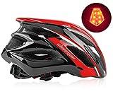 Shinmax Casco Bici,Casco Bici Uomo con Visiera,Casco da Ciclismo Luce di LED Rimovibile,Casco Leggero da...