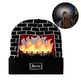 Light up Hat Beanie LED Christmas Hat Adults Women Men Kids Girls Boys Novelty Funny Hat Gifts Black