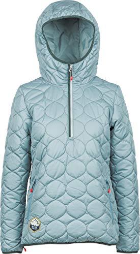 Nitro Snowboards Damen Annapurna Anorak 19 Nitro Snowbard oder Skijacke leicht warm als Midlayer benutzbar seitliche Reisverschlussöffnung Regular fit Jacke, Glacier/Emerald, S