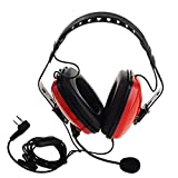SHUNYUS Casque Talkie-Walkie Casque Antibruit Casque Talkie-Walkie Sécurité Mic K Fiche Rouge Premium for Kenwood