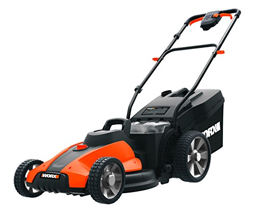WORX WG744.9 17-inch 40V Cordless Lawn Mower, Black/Orange