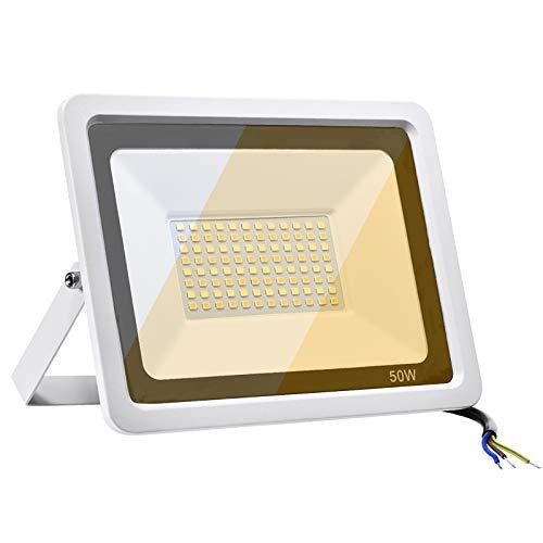 Faretto LED da Esterno 50W Impermeabile IP67 Dimmerabile Faro LED da Esterno 3000K, 4000K, 6000K Luce di sicurezza 4000LM Faro per Giardino Cortile Garage [Classe di efficienza energetica A++]
